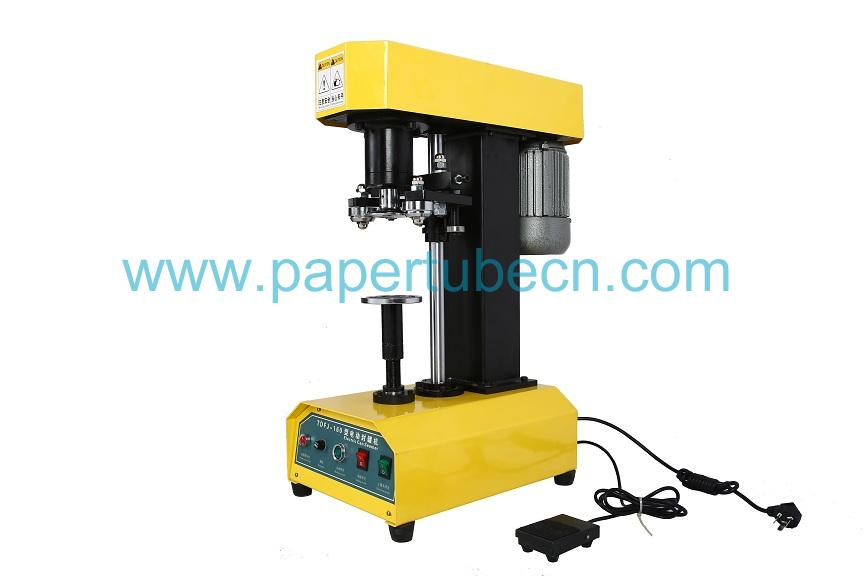 Table Type Electric Manual Can Sealing Machine with Yellow Color