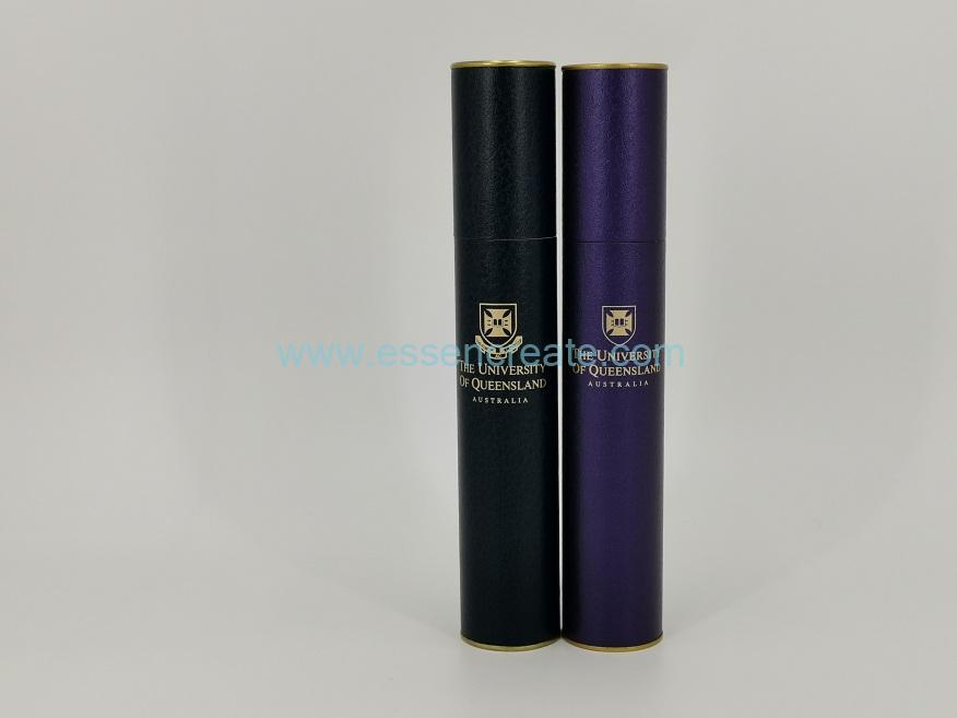 Univercity Certificate Diploma Packaging Gold End Paper Tube