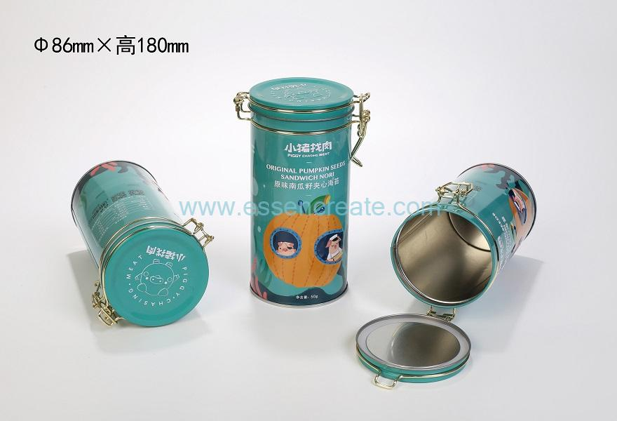 Airtight Lockable Tin Metal Can with Seal Ring