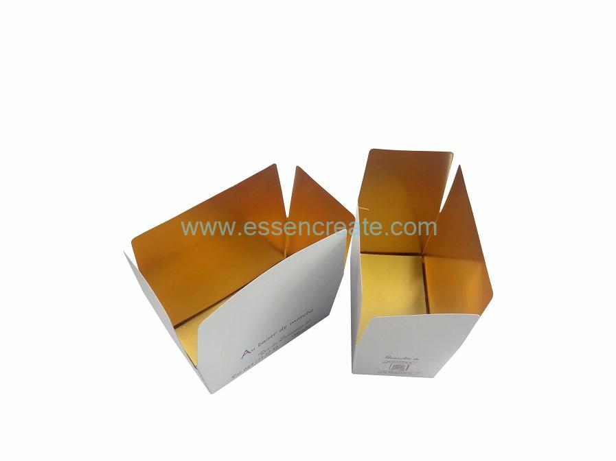 Non-glue structure Gold Cardboard Folding Box