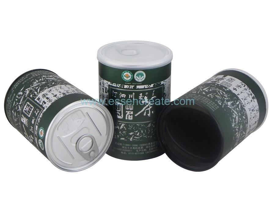 Silver Hot Stamping Tea Paper Cans with EOE