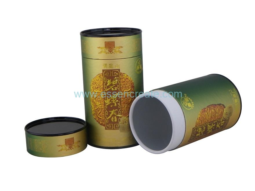 Spiral Tea Paper Cans with Metal Tin End