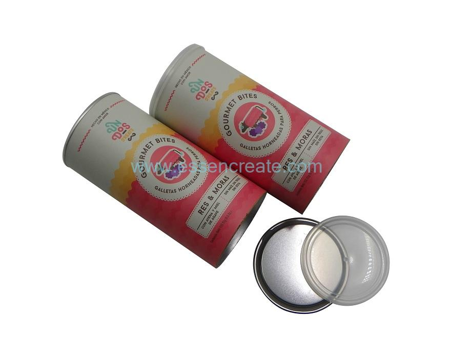 Airtight EOE Paper Packaging Cans