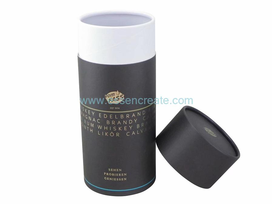 Cylindrical Kraft Wine Glass Bottle Packaging Paper Box