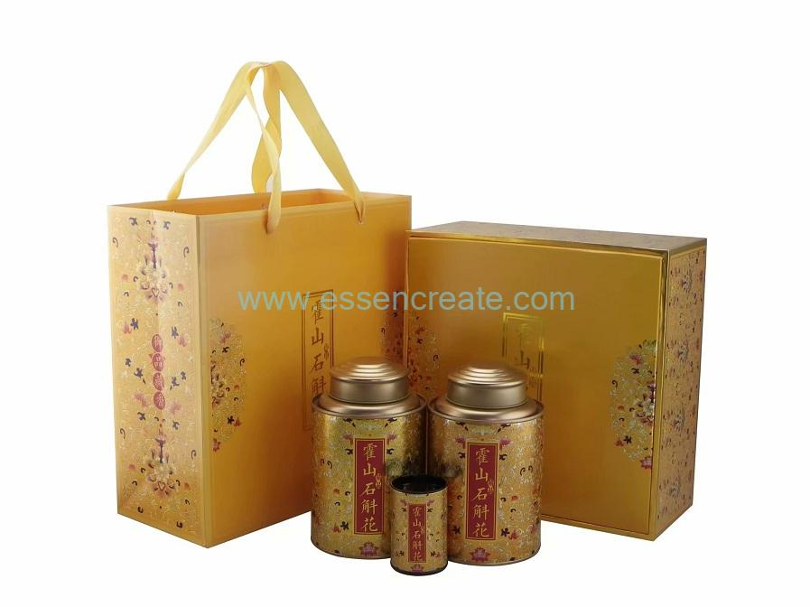 Tea Paper Cans Packaging Gift Box with Bags