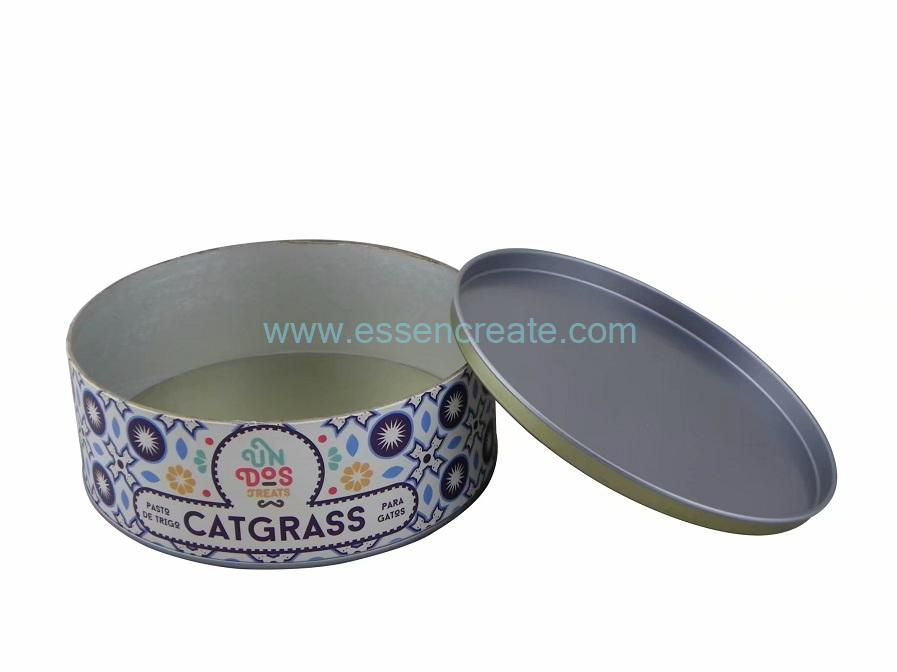 Round Paper Cardboard Box with Tin End