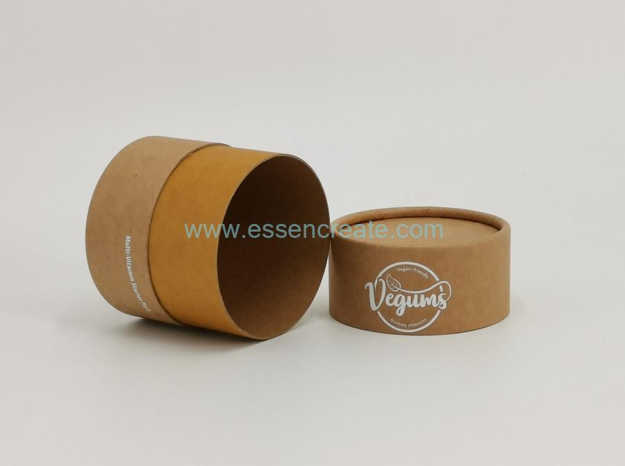 Food Supplement Packaging Paper Cans