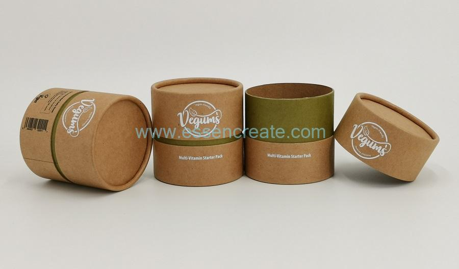 Capsule Packaging Paper Tube Canister
