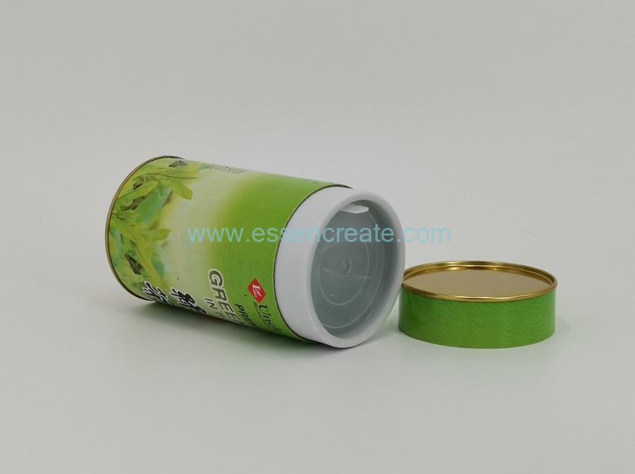 Paper Cans with Tin Top and Plastic Lid