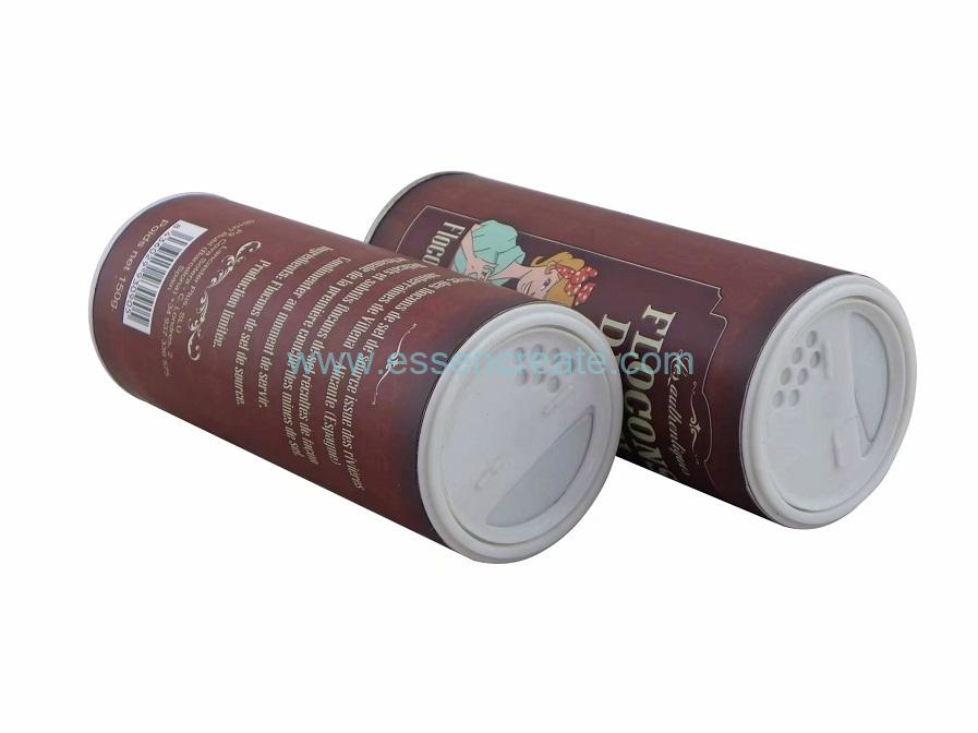 Table Salt Packaging Paper Tube with Shaker Top