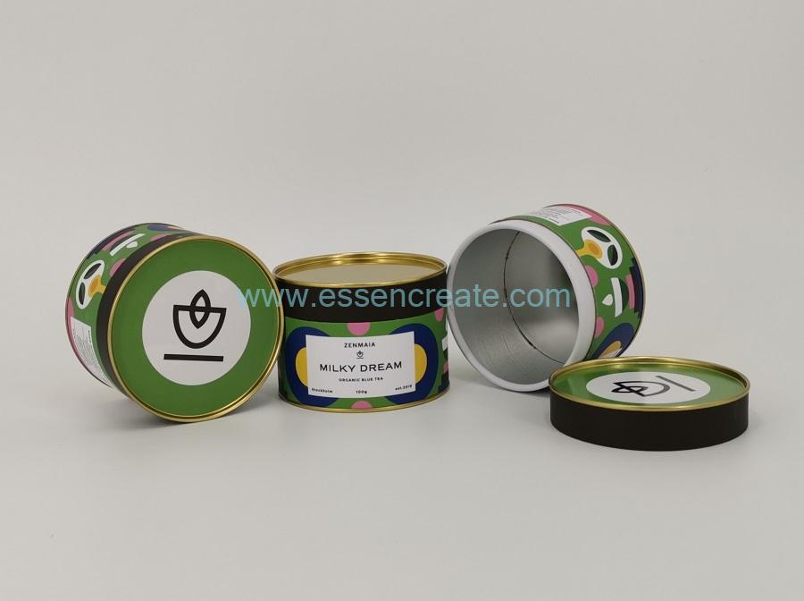 Cylinder Green Tea Packing Box