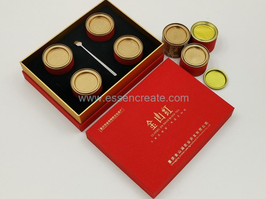 Round Tea Cans with Gift Box