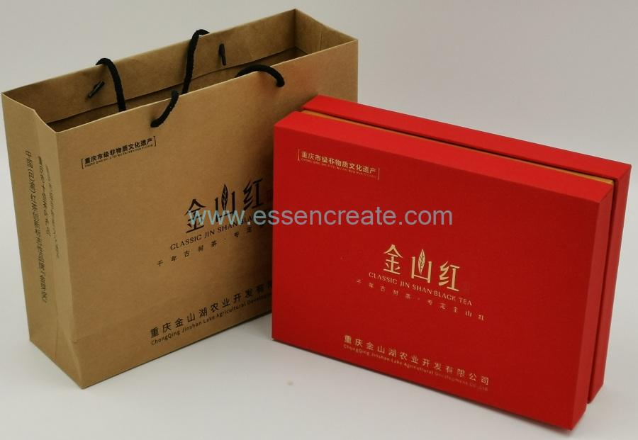 Round Tea Packing Box with Bag