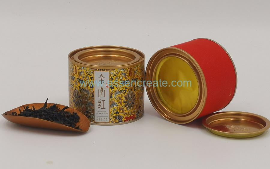 Composite Airtight Tea Packaging Canister with Pry Cover