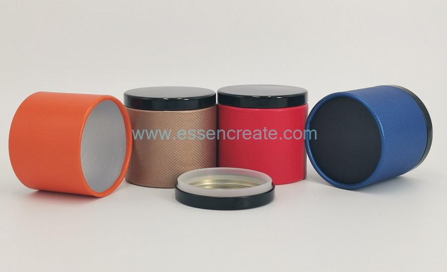 Rolled Edge Tea Packing Canister with Metal Lid