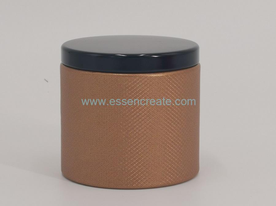 Cylinder Tea Canister with Metal Lid