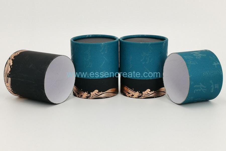 Two Pieces Round Tea Cans