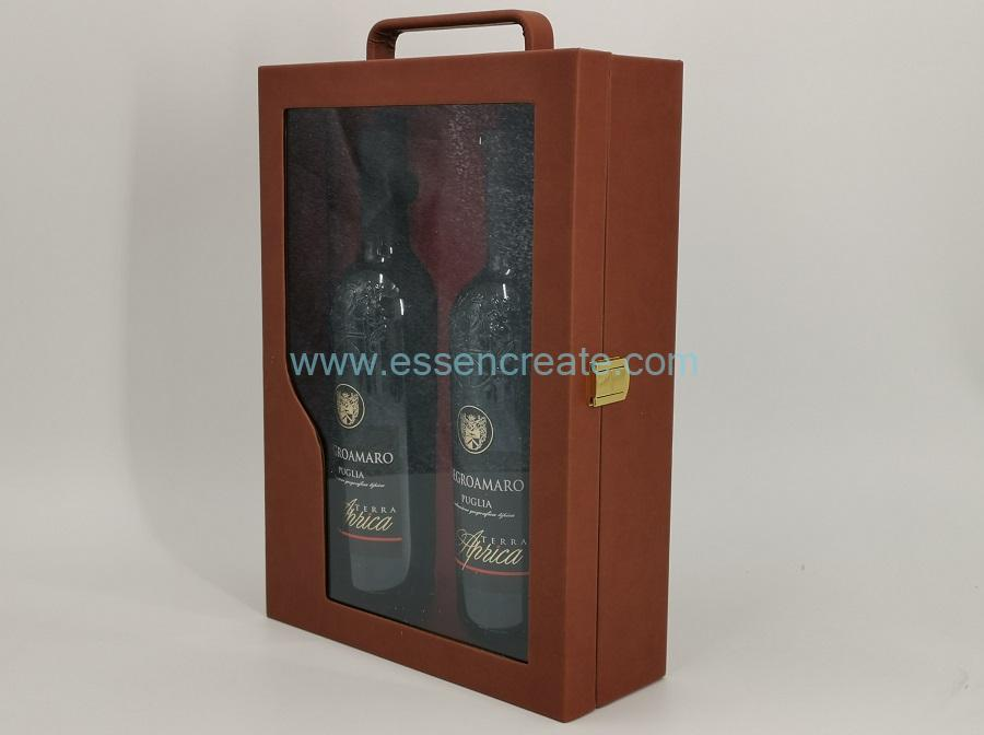 PU Leather Wine Box Holders