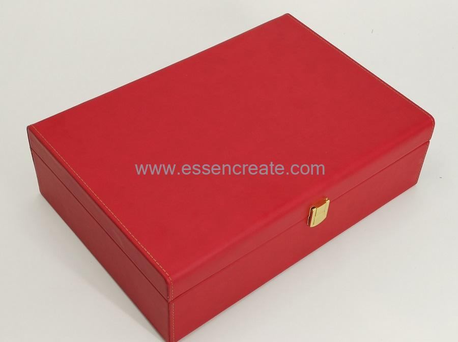 PU Leather Wine Box Case Holders