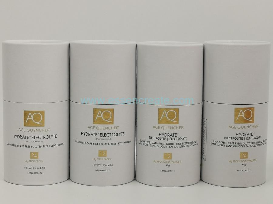 Health Food Packaging Cans with Gold Hot Stamping