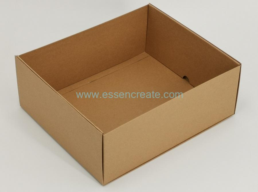Foldable Brown Kraft Rigid Cardboard Tray Packaging Box