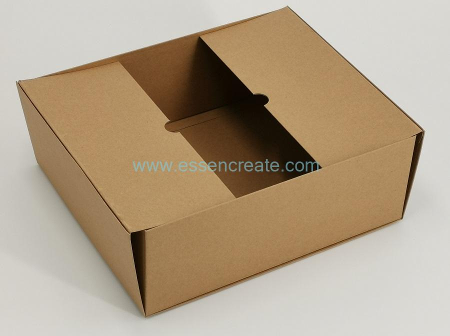 Foldable Brown Kraft Rigid Cardboard Box