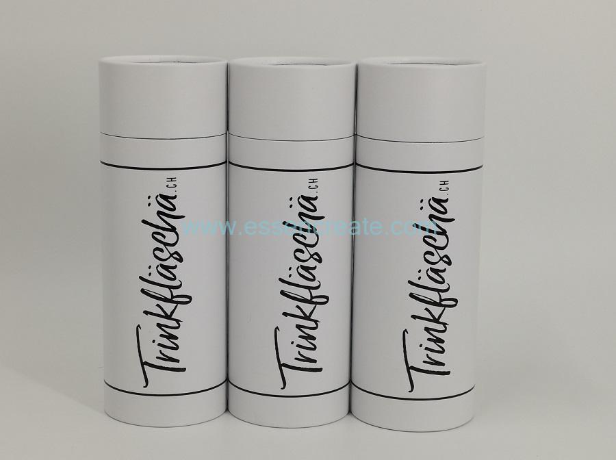 Black Hot Stamping Cylinder Tube for Gift Packaging