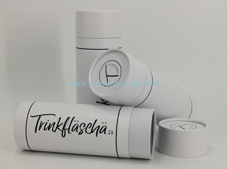 Rolled Edge White Paper Tube