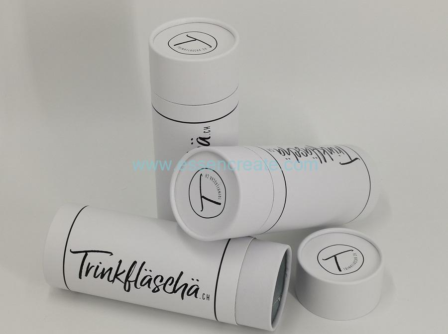 White Tube with Black Stamping