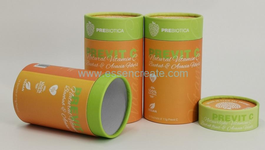 Protein Powder Supplement Packaging Crimping Round Paper Cans