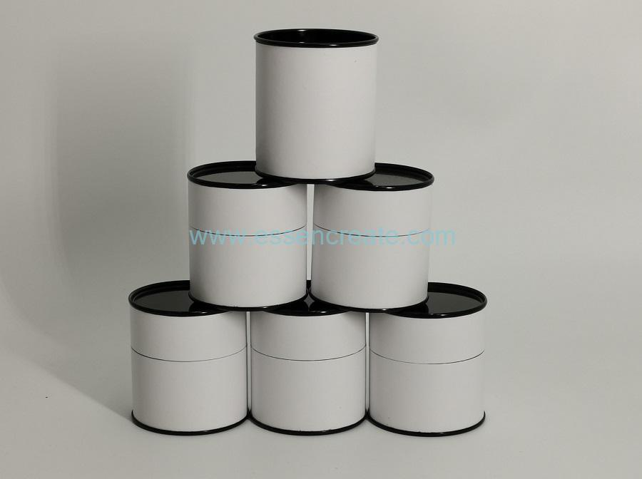 Composite Paper Tube with Black Tin End
