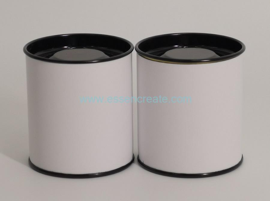 Paper Cans with Black Metal Tin