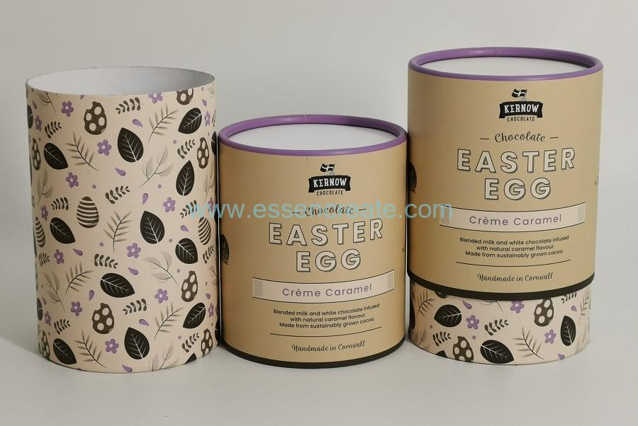 Curled Edge Cylinder Chocolate Cans Packaging