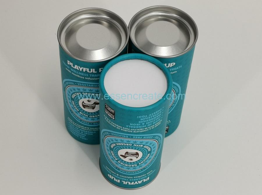 Paper Packaging Cans with Silver Tin