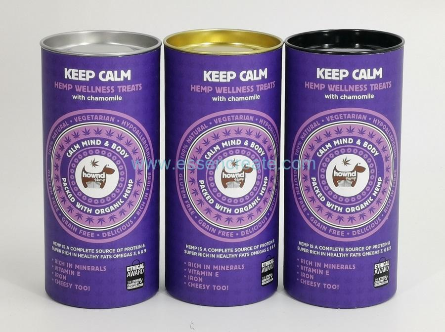 Round Medicine Packaging Paper Cans