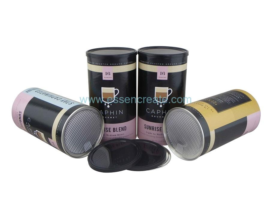 Aluminum Foil Easy Peel Off Design Coffee Cans