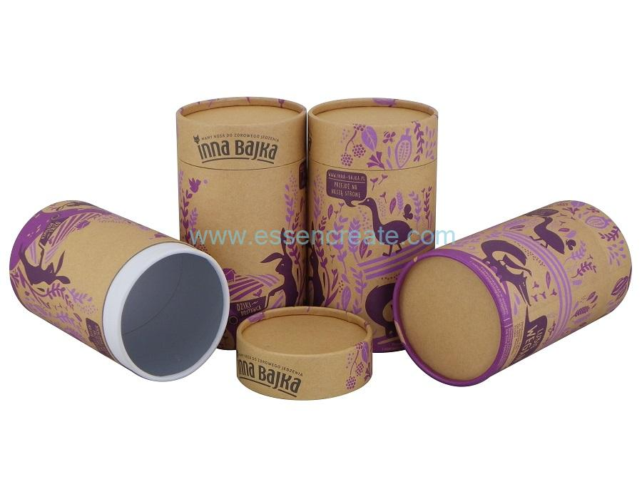 Kraft Paper Round Can Box