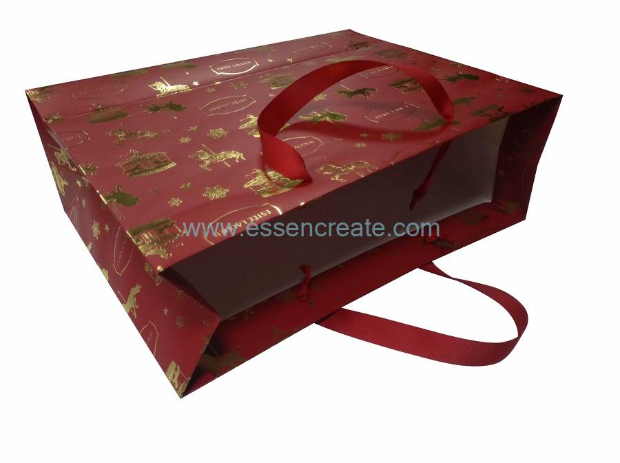 Christmas Bags with Ribbon Handle