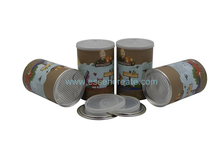 Seed Packaging Paper Cans with Aluminum Foil Liner