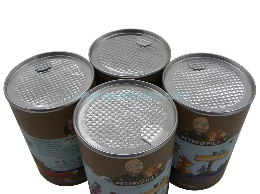 Paper Cans with Aluminum Foil Liner
