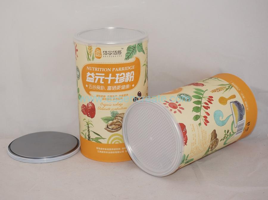 Food Grade Paper Composite Nutrition Parridge Packaging Cans