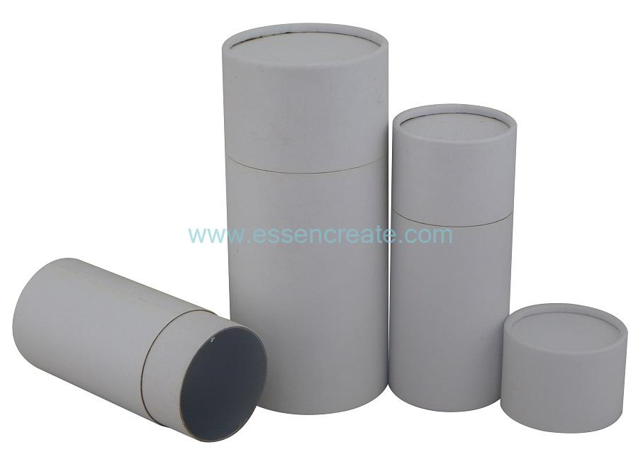White Inner Straight Rolled Edge Packing Paper Tube