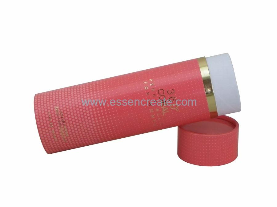 Eco-friendly Fragrance Bottle Packaging Tube Cardboard Round Box