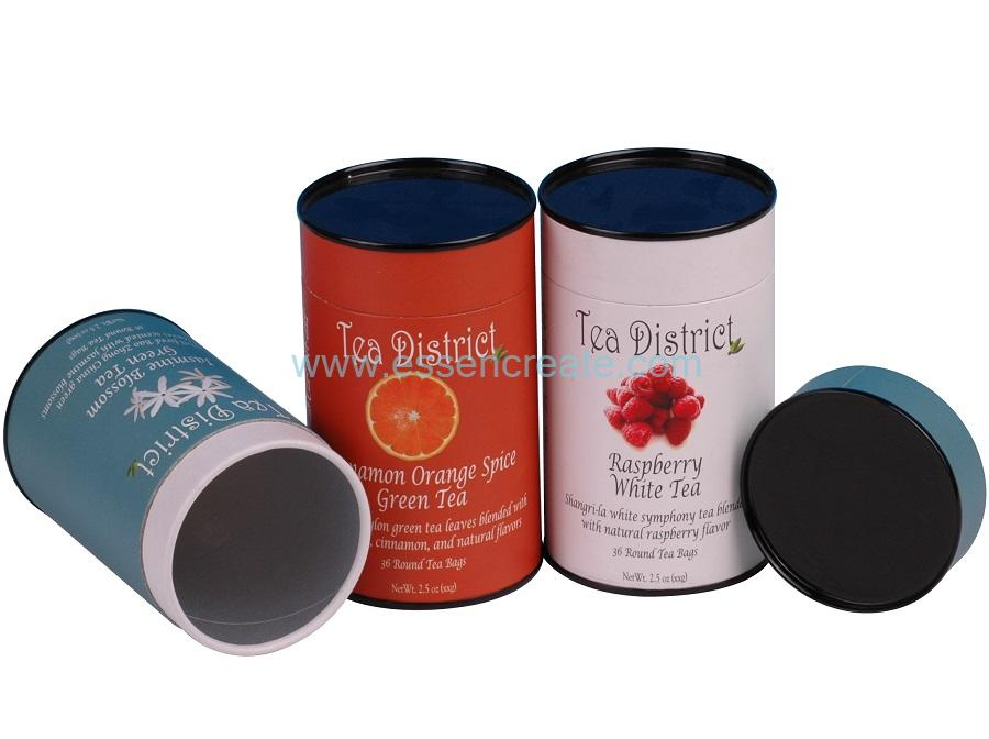 Composite Tea Cans Packaging Tinplate Cap Paper Tube