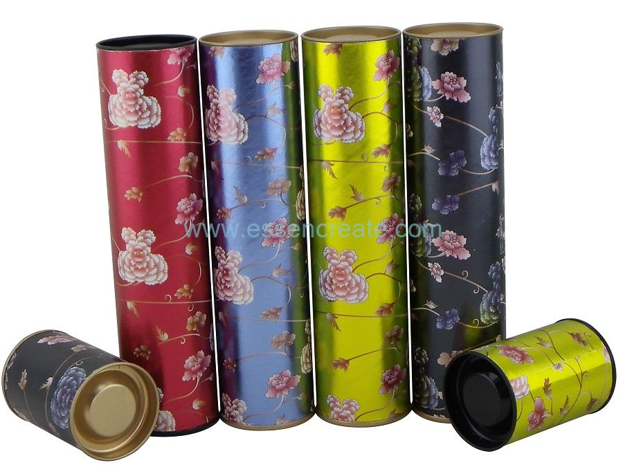 Tinplate Buckle Lid Scented Tea Packaging Paper Tube