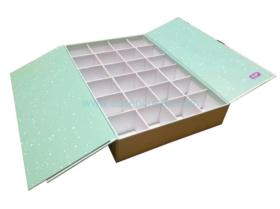 Chocolate Pralines Packaging Cardboard Gift Box with 24 Divider Grids