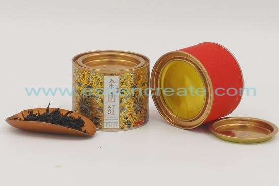Tea Packaging Canister with Pry Cover