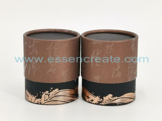 Two Pieces Telescope Cylinder Tea Packaging Box