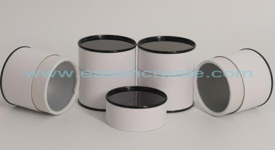 White Tube with Black Tin Lid