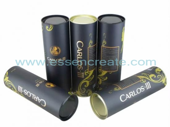 Paper Wine Tube with Metal End